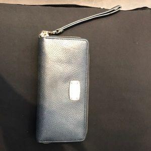 Michael Kors Black leather wallet wristlet